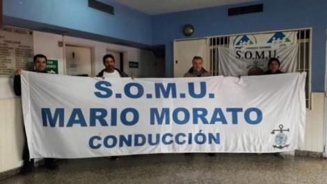 Junio de 2017, suaristas haciendo proselitismo dentro de la Seccional San Fernando del SOMU con el aval de la intervención.