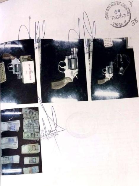 Arma propiedad del empresario Miguel Angel Lazzaro utilizada por Leonel Abregu para amenazar afiliados