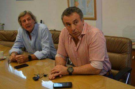 Roberto Porcel y Alfredo Bertonasco, interventores del SOMU, Fundación Azul y empresas relacionadas al gremio. Junto a Silvio Torres y Alejandro